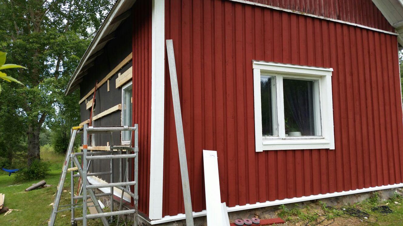 talon puuverhoilun korjaaminen Joensuu